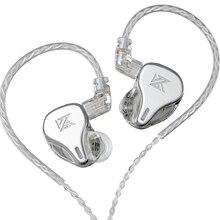 KZ DQ6 3DD דינמי נהג אוזניות בס HIFI אוזניות ברזולוציה גבוהה אוזניות ביטול רעש באוזן אוזניות עבור ZSX ZAX EDX