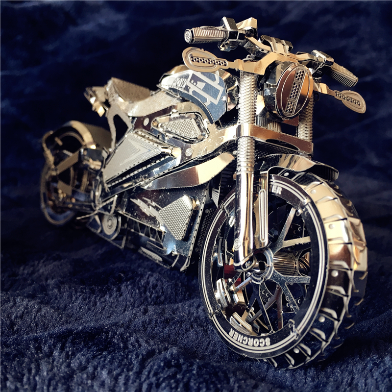 IRON STAR 3D Metal Puzzle Vengeance Motorcycle Lundon Bus Off-road Vehicle DIY 3D Laser Cut Model Puzzle Toys For Adult