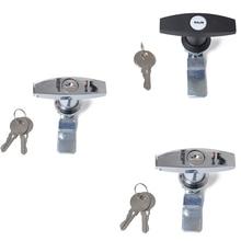 Ржавчина доказательство Т ручка высокого качества замок из сплава цинка и ключи Замена для прицепа караван навес Toolbox