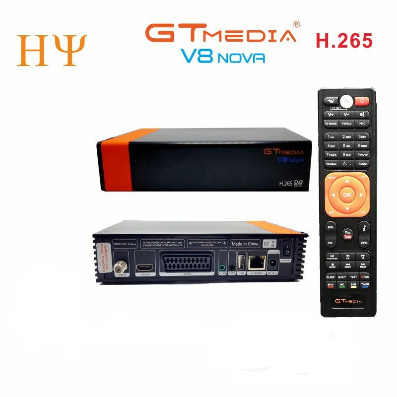 12 PCS/Lot GTMEDIA V8 NOVA av/péritel récepteur H2.65 FREESAT V9 SUPER Satellite TV récepteur DVB-S2 VS freesat V8 Super