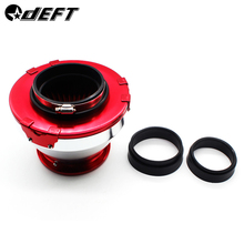 DEFT Universal car Air Filter Racing Cold Air Intakes Aluminum Turbo High Flow Cone Shaped Filter With Adapters 76mm 89mm 100mm
