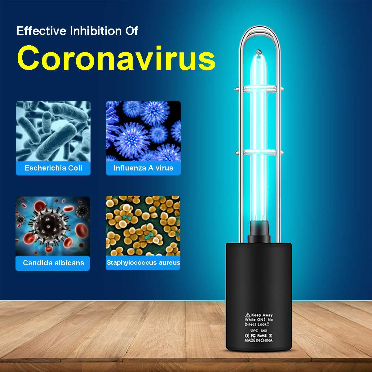 Rechargeable Ultraviolet UV Sterilizer Light Tube Bulb Disinfection Bactericidal Lamp Ozone Sterilizer Mites Lights USB