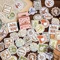 46 pcs/box Vintage autumn letters Postmark sticker package DIY diary Bullet Journal decoration sticker album scrapbooking