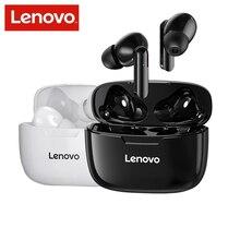 Lenovo Bluetooth 5.0 T90 twsワイヤレスヘッドセット,タッチコントロール,マイク付きイヤホン,300mah充電ケース