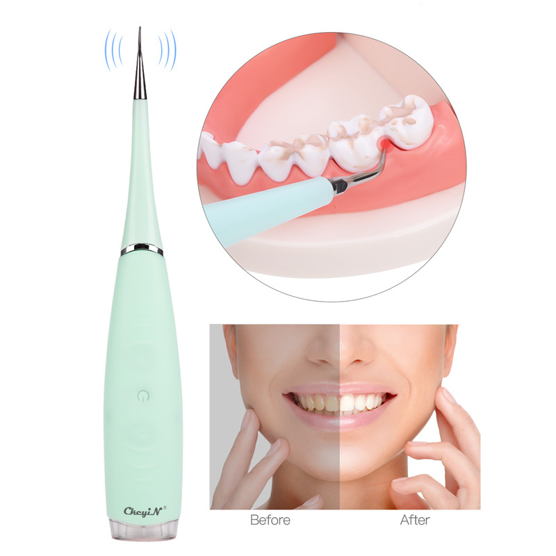 Household Electric Ultrasonic Dental Teeth Whitening Tooth Calculus Tartar Eraser WPlaque Remover Washable Oral Hygiene Clean