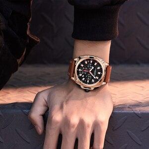 Image 5 - MEGIR 2020 New Relogio Masculino Watches Men Fashion Leather Band Sport Watch Quartz Business Wristwatch Reloj Hombre