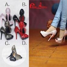 Масштаб 1/6 женские туфли на высоком каблуке ft021 модная сексуальная