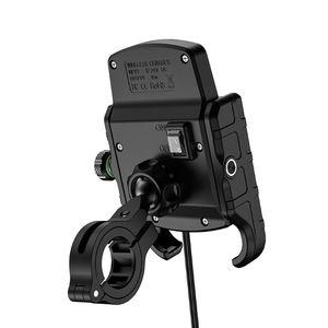 Image 2 - Étanche 12V moto téléphone Qi charge rapide sans fil chargeur support support support de montage pour iPhone Xs MAX XR X 8 Samsung