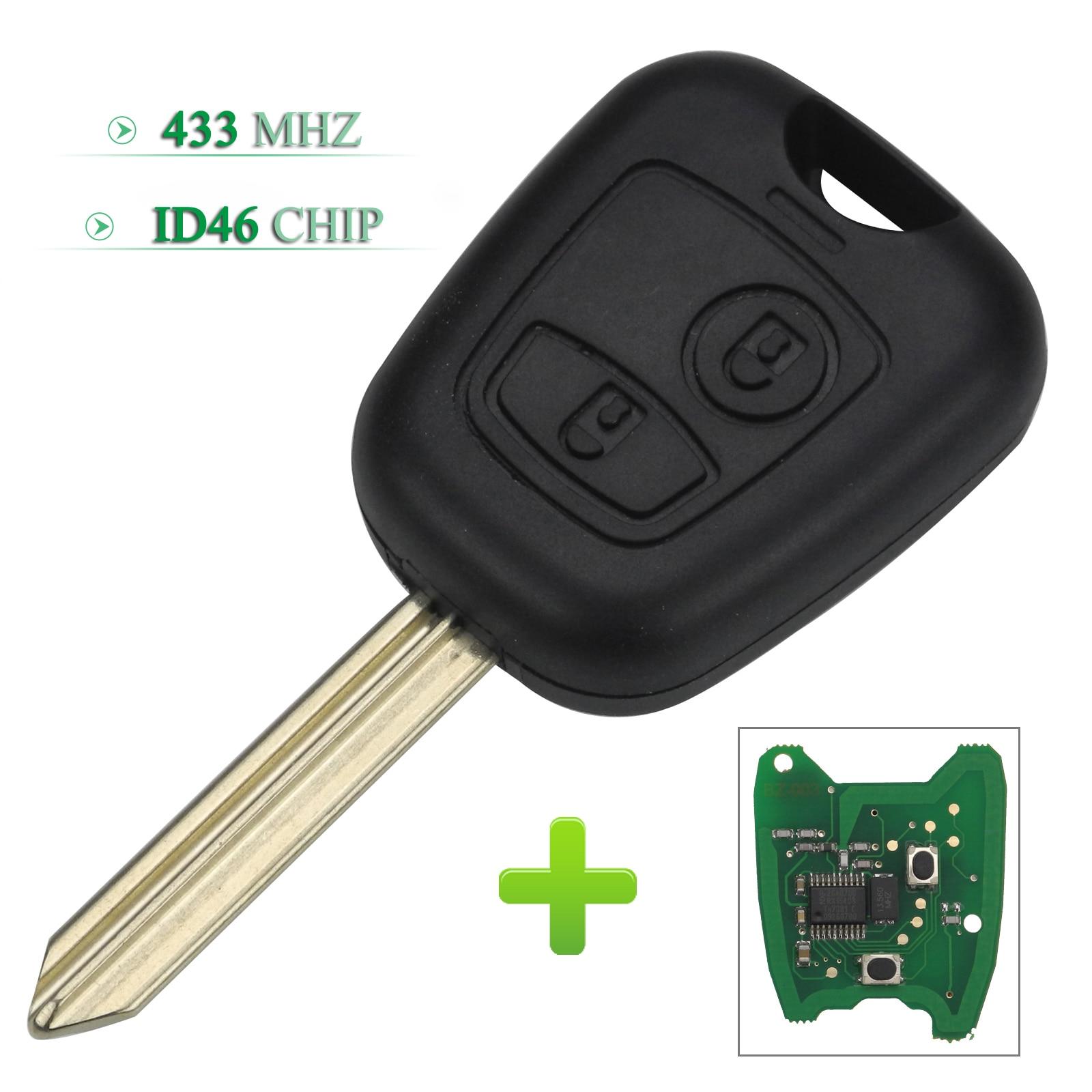 Bilchave 2 кнопки 433 МГц ID46 чип пульт дистанционного управления автомобильный брелок для Citroen Saxo Picasso Xsara Berlingo с SX9 Uncut Blade