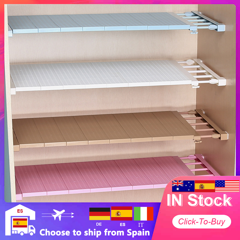 Adjustable Closet Organizer Storage Shelf Wall Mounted DIY Kitchen Rack Space Saving Wardrobe Decorative Shelves Cabinet Holders|Storage Holders & Racks|   - AliExpress