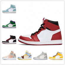 Новинка, баскетбольные кроссовки с серебристым носком, 1s, высокий Темный мокко, черные, металлические, золотые, UNC светильник-дымчатые, серые...