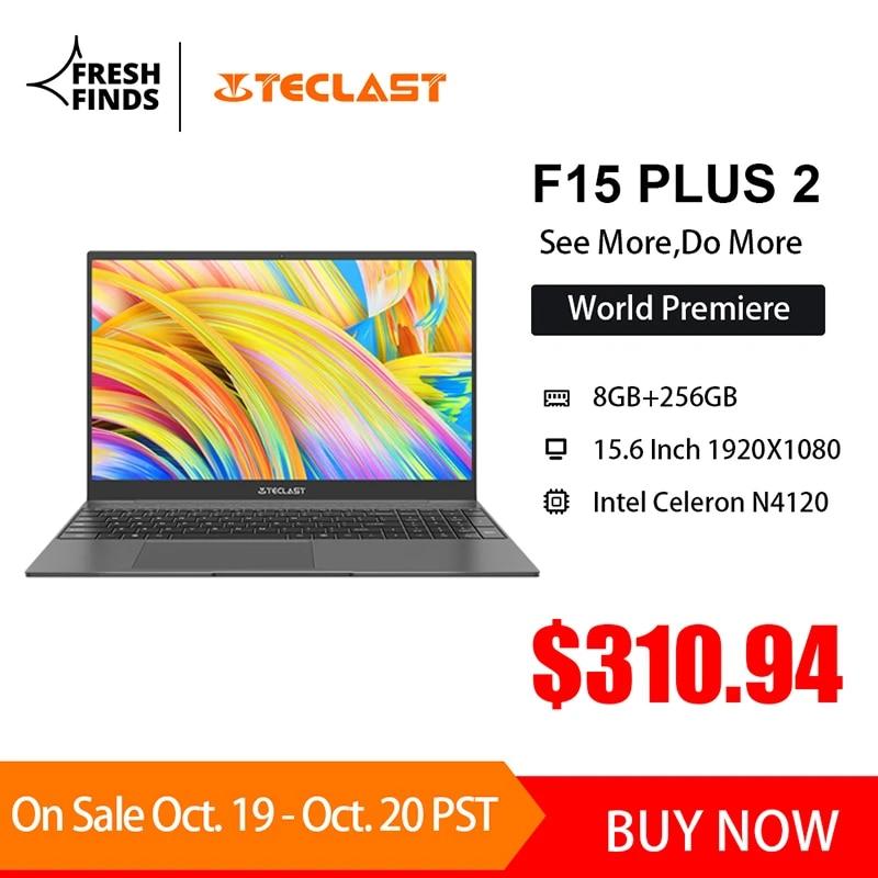 Teclast F15 Plus 2 15.6 Inch 1920X1080 Laptop Windows 10 8GB RAM 256GB SSD Intel Gemini Lake Refresh 1.65KG Mini-HDMI Notebook