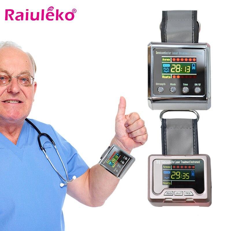 Бытовая Здоровый лазерной физиотерапии часы для того чтобы обработать, гипертония, диабет, холестерин, тромбоз сосудов головного мозга инс...
