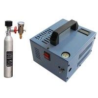 12V 4500psi 300bar 30mpa PCP Air Automobile Compressor Mini PCP Pump Including 220V Transformer Vehicle High Pressure 12 V