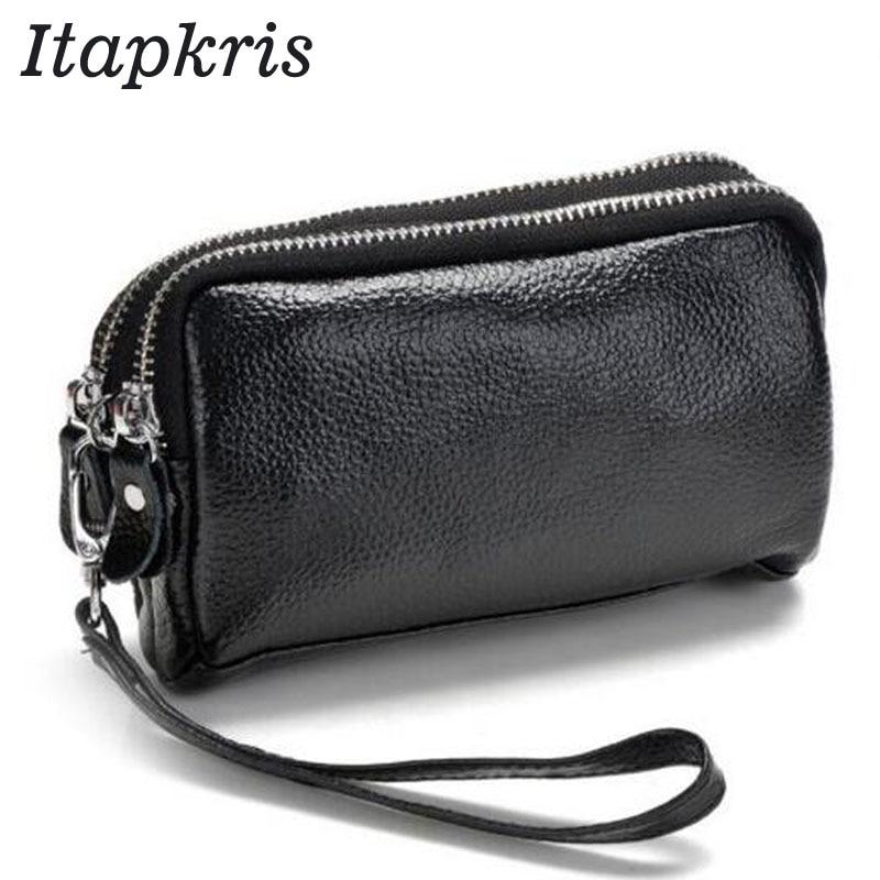 Clutch Wallet Pocket-Card-Pouch Phone Women Purse Classic Zipper Female Black Fashion