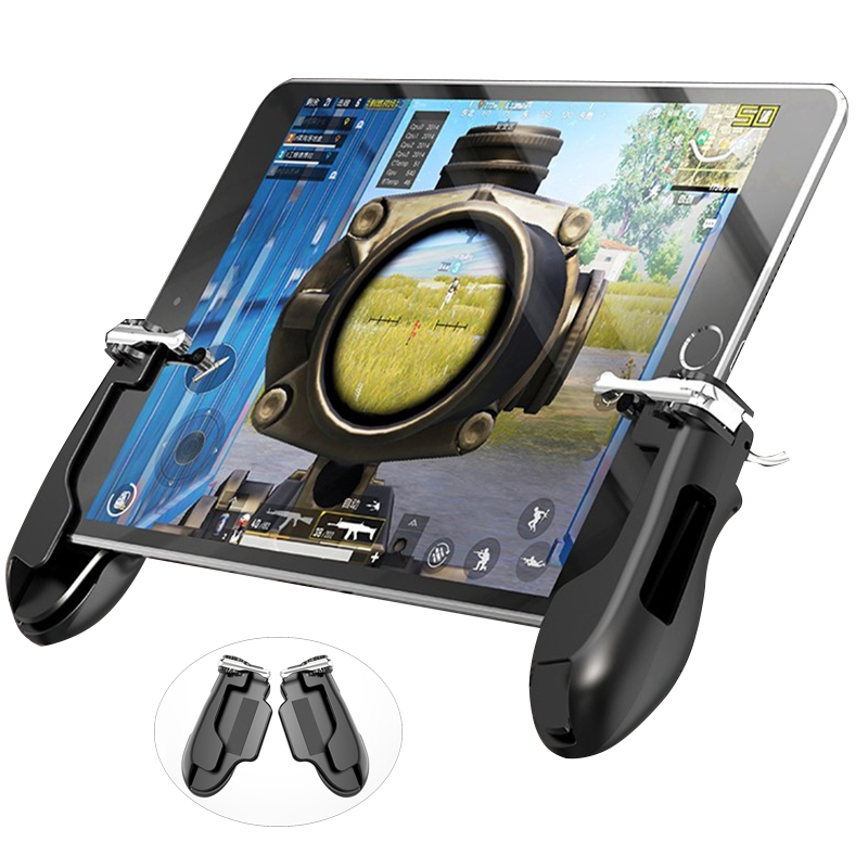 PUBG Mobie Controller Gamepad for Ipad Tablet Trigger Fire Button Aim Key Mobile Games Grip Handle L1R1 Shooter Joystick