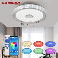 купить Creative LED Ceiling Lights With Bluetooth Speaker APP Dimmable RGB Modern Lighting Ceiling Lamp For Bedroom Living room Kitchen по цене 4475.16 рублей