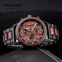 часы мужские DODO DEER Wood Watch For Men Brand Fashion Calendar Chronograph