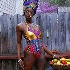 African Print Golden...