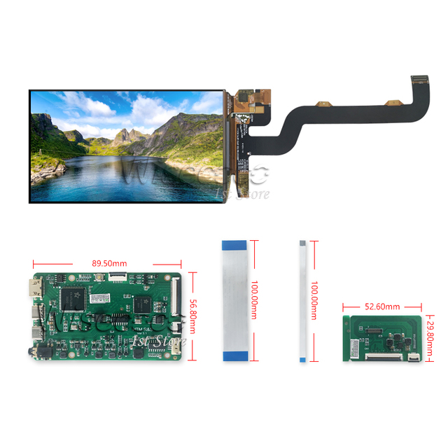 Wisecoco 5.5 Inch AMOLED 1920x1080 OLED Capacitive Touch Panel For Raspberry Pi 4 4B Display TV Box PS4 Game Console LCD Camera 5