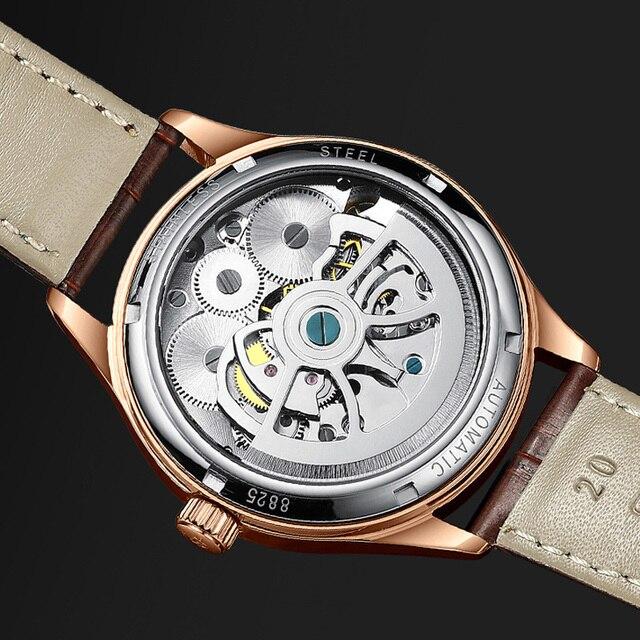 HAIQIN hommes montres hommes montres haut de gamme de luxe mécanique affaires montre-bracelet hommes Reloj Mecanico de hombres Tourbillon 2019