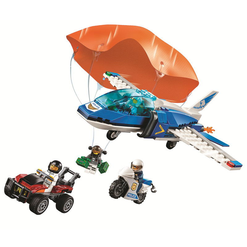 2019 City Sky Police Parachute Arrest Building Blocks Kit Bricks Classic Model Kids Toys For Children Gift