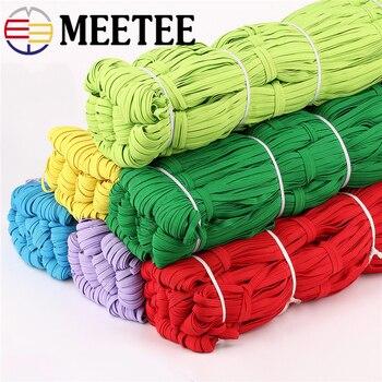 10/30M 6mm bandas elásticas planas coloridas banda de goma de alta elasticidad cinta de Spandex cinta de costura cinta de encaje accesorio de ropa