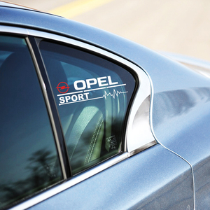 2 pièces voiture sport autocollant style fenêtres porte décoration pour Opel Astra H G J Insignia Mokka Zafira Corsa Vectra C D accessoires
