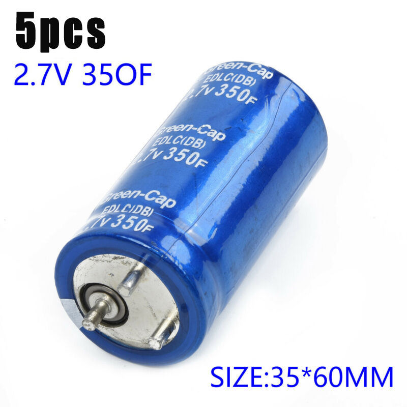 5 PCS Blue 350F Super Capacitor Farad Capacitor 2.7V 350F Electrical Component For Maxwell 35 X 60 Mm
