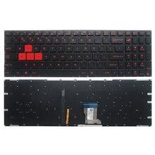 Клавиатура с подсветкой для ноутбука ASUS GL502, GL502V, GL502VT, GL502VT, GL502VS, GL502VM, GL502VY, США, стандартная английская раскладка с подсветкой