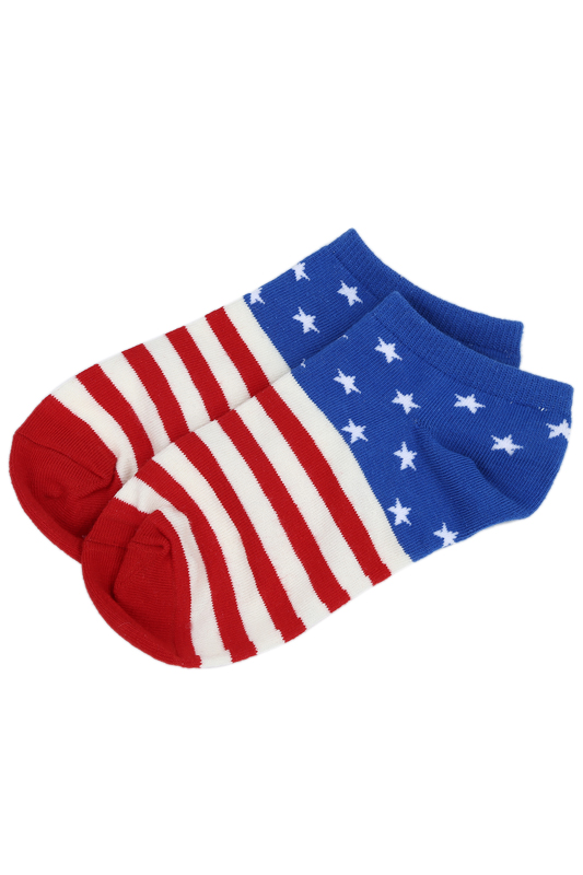 Pair Of Fashion USA Flag Star Stripe Pattern Socks For Men