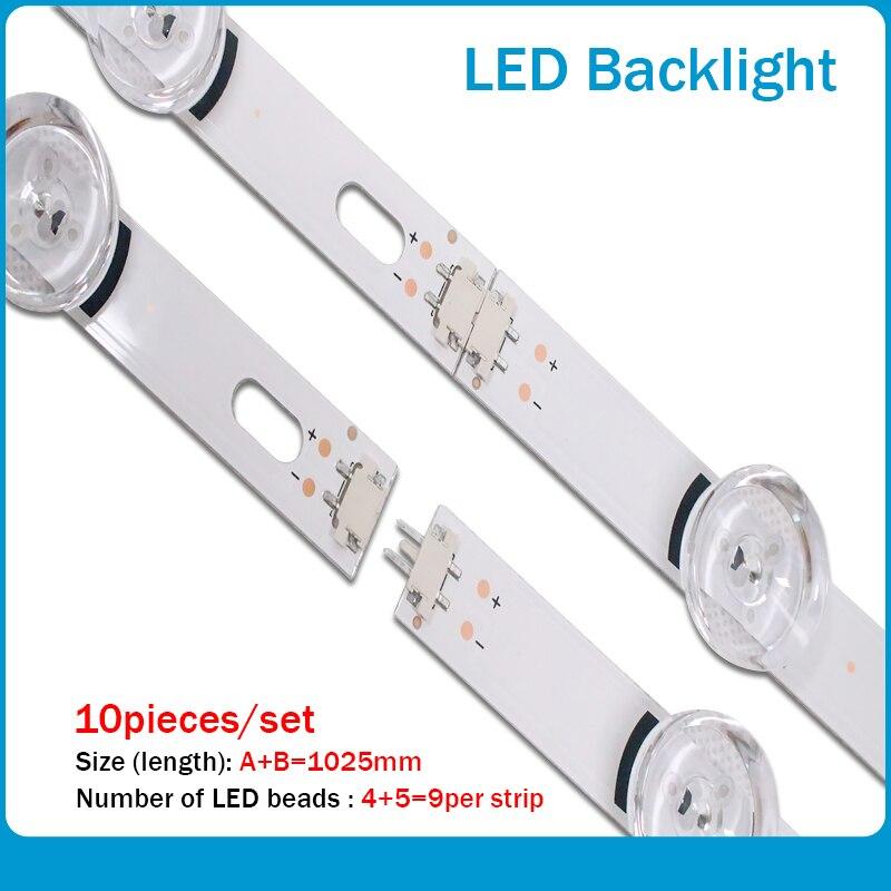 """עכברים - מקלדות 1025mm תאורת LED אחורית רצועת 9leds עבור LG 49LB620V Innotek ד.ר.ת 3.0 49"""" א ב 49LB552 49LB629V 6916l 1788A 1789A 49LF620V 49UF6430 (1)"""