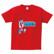 Children T-Shirt Unikitty Tops Girl Boy T shirt Summer Style Graphic Tee Harajuku Casual Summer T Shirts Kids Short Sleeve