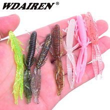 5pcs/lot 7.2cm 1.8g Shrimp smell jig soft Fishing Lure Attractive Fish Crab Fishing Bass Soft Bait iscas pesca para WD-394(China)