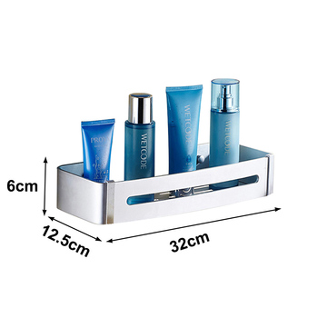 Bathroom Accessories Wall Shelf Kitchen Organizer Sucker Wall Mounted Stainless Steel Storage Corner Shelf Kitchen No Punch Hook 7