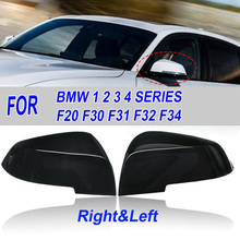 1 pair Rear View Mirror Covers Exterior Replacement Left+Right Waterproof 1 pair left