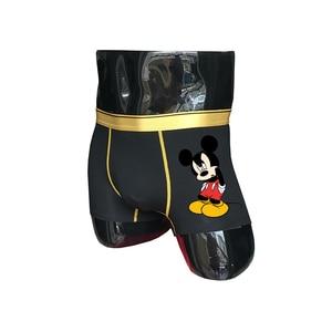 (2 unid/set) seestern nuevo lindo de dibujos animados Mickey ropa interior boxeadores de los hombres boxer sexy pantalones cortos hip hop ratón divertido hombre calzoncillos