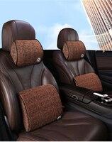 سيارة الذاكرة القطن مسند الرأس الرقبة وسادة وسادة الخصر اليد خياطة سيارة Mitsubishi لانسر 10 EVO تطور