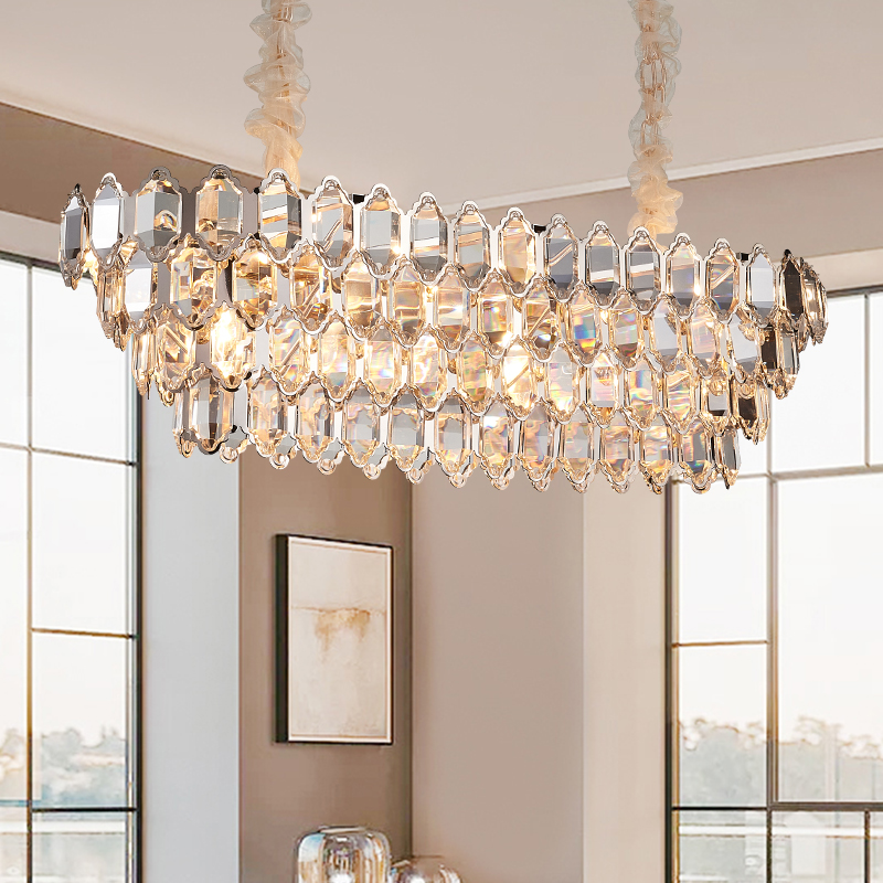 Special Price Modern Rectangle Crystal Chandelier Lighting Led