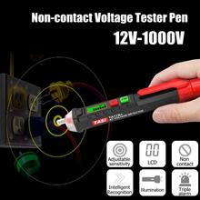 цена на New Arrival AC/DC Non-Contact LCD Electric Voltage Test Pen 12-1000V Detector Tester Pencil TA11B c digital test pencil