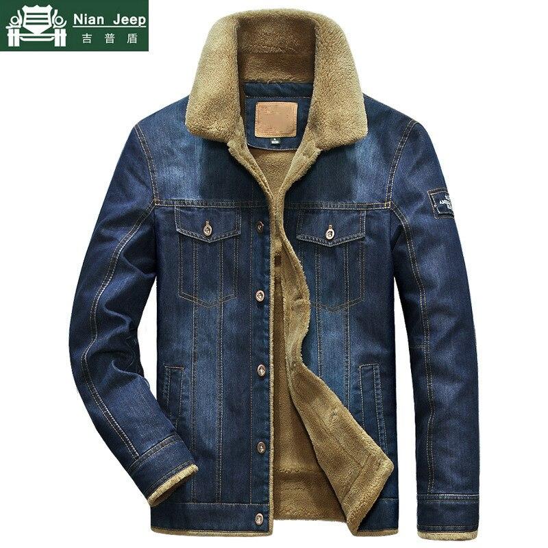 Brand Denim Jacket Men Winter Windbreaker Warm Mens Jackets Outwear Jeans Coat Male Multi-pocket Cowboy Clothing Plus Size M-6XL 1