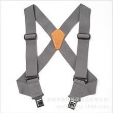 Fluorescent Green Ruler Design Men Suspenders Classic X Shaped 4 Clips Tool Belt Suspenders Men Trousers Suspenders Adjustable
