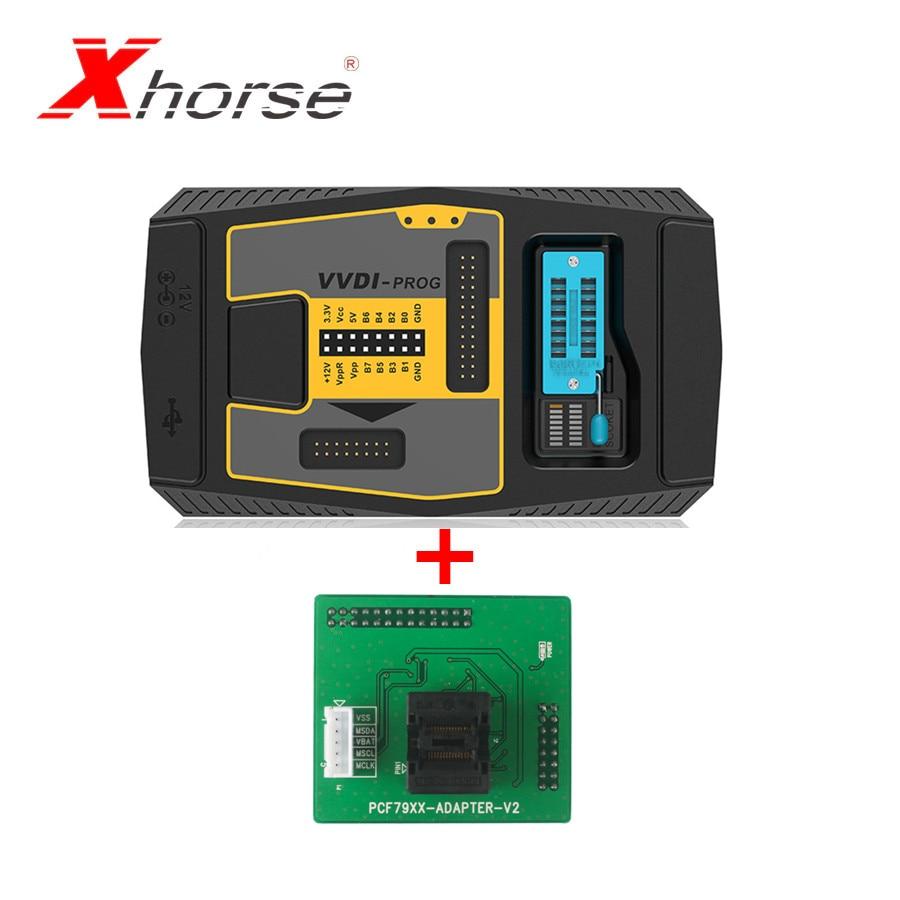 Original Xhorse VVDI PROG Programmierer V 4.9.1 Plus PCF79XX Adapter für VVDI PROG Programmierer