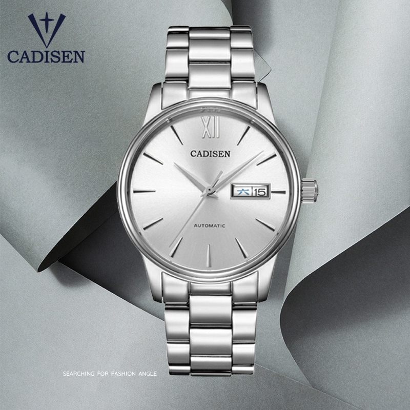 2020 New CADISEN Men's Watches Automatic Mechanical Watch Men Fashion Business Wristwatch Men NH36 Movement Waterproof Clock Man