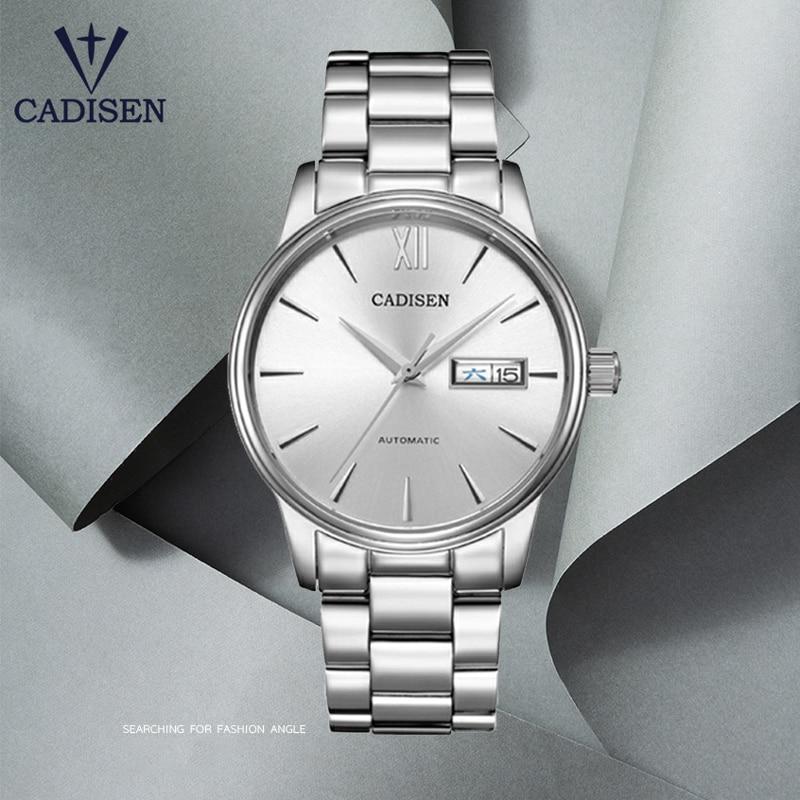 2020 New CADISEN Men's Watches Automatic Mechanical Watch Men Fashion Business Wristwatch Men NH36 Movement Waterproof Clock Man