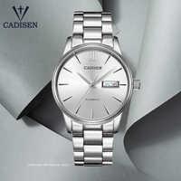 CADISEN-relojes mecánicos automáticos para hombre, reloj masculino de pulsera de negocios, resistente al agua, con movimiento NH36, 2020