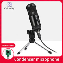 Cella m1 pro usb microfone condensador 192khz/24-bit para streaming de computador de jogos e youtube gravação com tripé