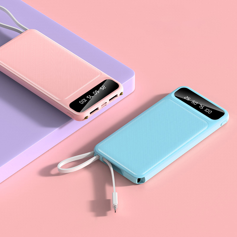 Power Bank 10000mAh Portable Charging PowerBank 10000 MAh USB PoverBank External Battery Charger For Xiaomi Mi 9 8 IPhone