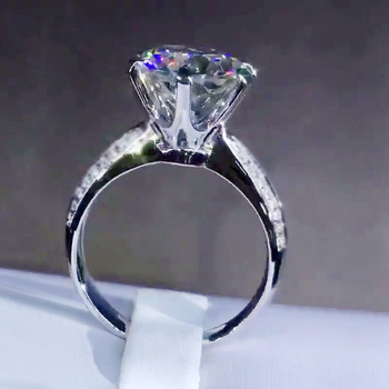 Promotion!!! With Certificate Luxury 2 Carat Genuine 925 Sterling Silver Wedding Band Jewelry Zirconia Diamond Rings For Women yanhui with certificate 1 carat 2 carat gemstones zirconia diamond ring 925 sterling silver jewelry wedding bands for women