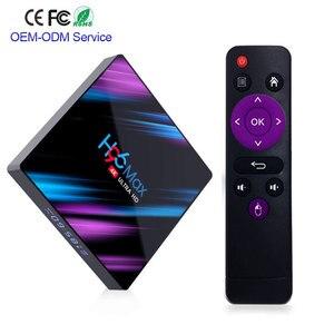 ТВ-приставка Android 9,0 H96 MAX Rockchip RK3318 4 Гб ОЗУ 64 Гб H.265 60fps 4 K Google playstore netflix Youtube H96MAX телеприставка